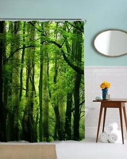 """A.Monamour Natur Landschaft Grüne Bäume Wald Bild Drucken Textil Duschvorhang Für Bad Zubehör Wasserdichte Tischdecke 150X180 Cm / 60 """"X72"""" -"""