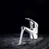 Ancheer Wasserhahn Einhebelmischer Waschtischarmaturen Armatur Bad & Küche mit viel Zubehör, Silber -