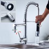 AuraLum® 360° Drehung Verchromt Küchenarmatur Küche Spültischarmatur Spüle Armatur Wasserhahn Mischbatterie Spiralfederarmatur -