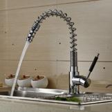 Auralum 360° Schwenkbar Ausziehbar Wasserhahn Küchenarmatur Chrom Spültischarmatur Einhandmischer mit Schlauchbrause Typ3 -
