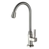 Auralum® Elegant 360°drehbar schwenkbare verchromt Kaltwasser Wasserhahn Armatur Wasserkran Küchenarmatur Einhand Spültisch für Küche -