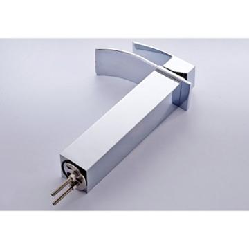 Auralum® Elegant verlängerte Hoch Einhebel Mischbatterie Wasserhahn Armatur Waschtischarmatur Wasserfall Einhandmischer für Bad Badezimmer Waschbecken -