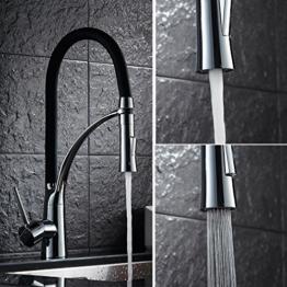 Auralum® Feder Küchenarmatur Spiralfederarmatur für die Profiküche Einhebel Küchenarmatur Wasserhahn Armatu Einhebelmischer f. Küche -