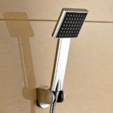 Auralum® Messing & Chrom 81 x 81 mm Handbrause Duschbrause Duschkopf -
