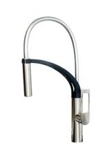 AWA - JUN - Edelstahloptik - Küchenarmatur - Spültischarmatur mit Geschirrbrause -