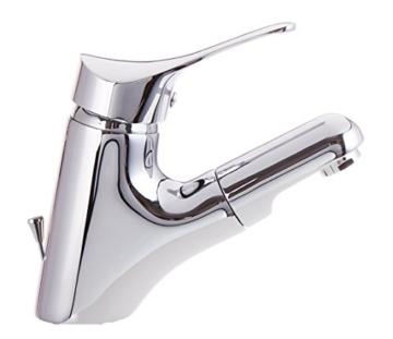 Bad Armatur mit herausziehbar Brause und Zugstange Waschtischarmatur Einhebelmischer Wasserhahn Haarbrause Handbrause Badarmaturen armaturen Waschtischarmaturen -