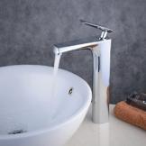 beelee 30,5cm Moderne Waschbeckenarmatur, Chrom Monobloc Messing Badezimmer Schiff Waschbecken Wasserhahn, hohem Auslauf -
