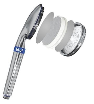 blu Ionic Power Filter: Hi-Tech Duschkopf | Entspannen und Wasser sparen bei vollem Duschgenuss -