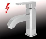Design Niederdruck Armatur Waschbecken Massiv Einhebel Chrom -
