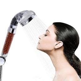 Dusche Kopf, Bukm Duschkopf Ionic Filter hohen Druck Wasser sparen Handbrause Filtration Sprinkler Sprayer Handheld Duschkopf für Wellnessbrause Home Badezimmer Hotel -