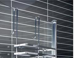 Duschkabinen Hängeregal 3 Etagen ohne Bohren Duschablage Badregal Duschregal auch in weiß erhältlich -