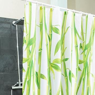duschvorhang bambus textil hygienisch elegant badewannen vorhang 100 polyester badewanne. Black Bedroom Furniture Sets. Home Design Ideas