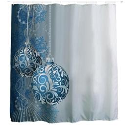 Duschvorhang Clode® Drucken Duschvorhang Verdicken Anti-Schimmel Polyester Wasserabweisend 150x180 (G) -