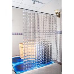Duschy Duschvorhang 3D- Transparent - Duschvorhangringe separat erhältlich -