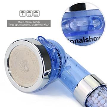 efluky Filtration Handheld- Duschkopf Universal-duschen Bestandteile mit Edelstahlschlauch 3-Way Spray Handdusche Hochdruck-Wasser-Einsparung (Duschkopf + Schlauch) -