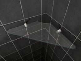 Glas-Wandregal für Duschkabinen / Duschtrennwände -
