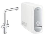 Grohe Blue Home Duo - 2-in-1 Trinkwassersystem und Küchenarmatur (gekühlt, gefiltert, mit Kohlensäure, L-Auslauf) 31454000 -