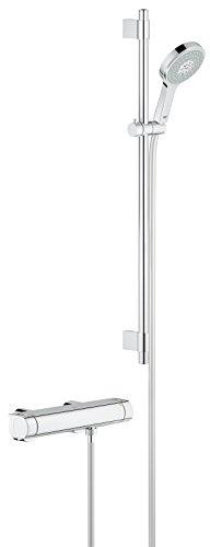 GROHE Grohtherm 2000 Thermostat Renovierungsset (variable Bohrlöcher zur Befestigung), Thermostatset, 34482001 -