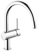 Grohe Minta Küchenarmatur, Schwenkbereich 360°, herausziehbarer C-Auslauf, Niederdruck für offene Warmwasserbereiter, 32511000 -