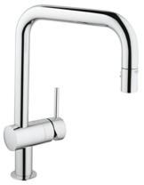 GROHE Minta Küchenarmatur, Schwenkbereich 360°, herausziehbare Spülbrause, U-Auslauf 32322000 -