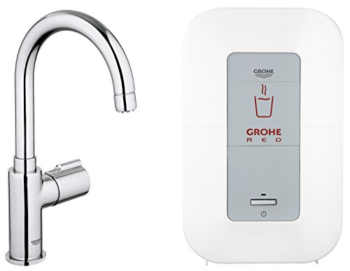 grohe red mono armatur und single boiler 4 liter c auslauf 30085000 der badarmaturen. Black Bedroom Furniture Sets. Home Design Ideas