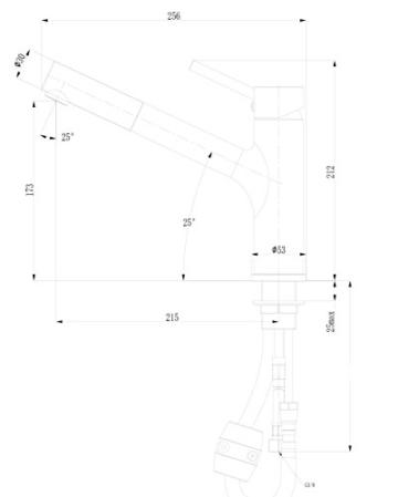 gr nblatt schwarz chrom niederdruck k che armatur mit herausziehbarer geschirrbrause der. Black Bedroom Furniture Sets. Home Design Ideas