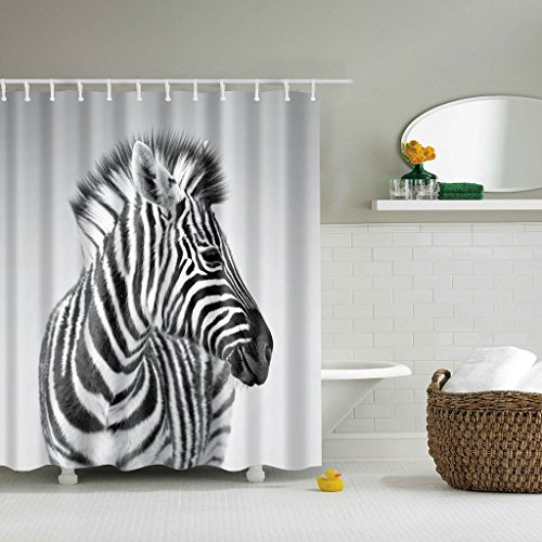 duschvorhang zebra gwell 180x200cm der badarmaturen. Black Bedroom Furniture Sets. Home Design Ideas