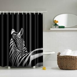 GWELL Top Qualität Anti-Schimmel Duschvorhang Digitaldruck inkl. 12 Duschvorhangringe für Badezimmer Art-B 180x200cm -