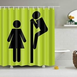 GWELL Top Qualität Anti-Schimmel Duschvorhang Digitaldruck inkl. 12 Duschvorhangringe für Badezimmer Art-L 180x200cm -
