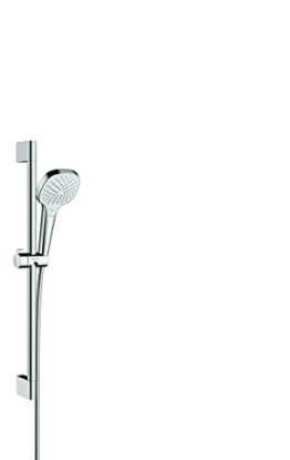 hansgrohe Croma Select E Brauseset 0,65m, 3 Strahlarten, weiß/chrom -