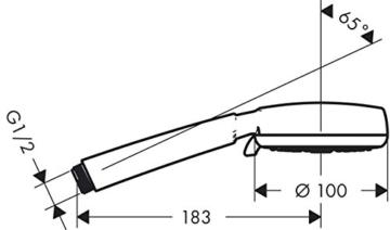 hansgrohe Crometta 100 Handbrause, 4 Strahlarten, weiß/chrom -
