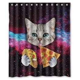 HARRYSTORE Nettes Katzen-Muster-wasserdichter Duschvorhang, der im Badezimmer verwendet -