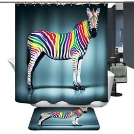 Harson&Jane Hochwertige Digitaldruck dickerem Material ist wasserdicht DuschvorhangGröße:180*180 180*200 (180*180, Zebra) -