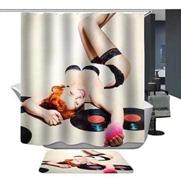 Harson&Jane Hochwertige Digitaldruck dickerem Material ist wasserdicht DuschvorhangGröße:180*180 180*200 (180*180, Beauty) -