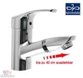 heinrichschulte ascona_1 Einhebel Waschtischarmatur mit herausziehbarem Kopf und Zugstangen-Ablaufgarnitur -