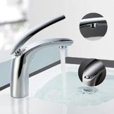 Homelody Chrom Mischbatterie Wasserhahn Bad Armatur Waschtischarmatur Waschbeckenarmatur Einhebelmischer Badarmatur Waschtischmischer Waschbecken Armatur -
