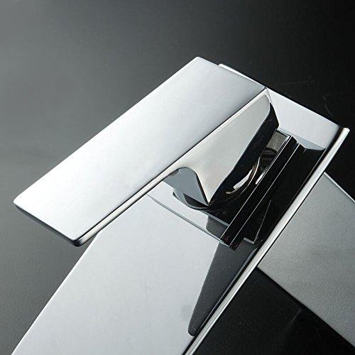 homelody chrom wasserhahn bad wasserfall waschtischarmatur. Black Bedroom Furniture Sets. Home Design Ideas