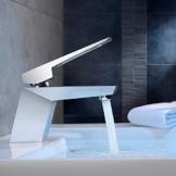 Homelody Chrome Wasserhahn Bad Waschtischarmatur Einhebelmischer Waschbeckenarmatur Badarmatur Waschtisch Waschbecken Armatur für Badezimmer -