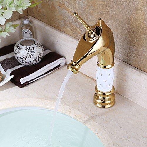 homelody einhorn vergoldet einhebel wasserhahn badarmatur. Black Bedroom Furniture Sets. Home Design Ideas