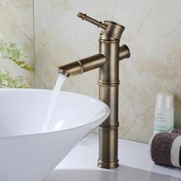 Homelody Retro Wasserhahn Bad Armatur Waschbecken Einhand Waschtischarmatur Einhebelmischer Waschtisch Badarmatur Waschbeckenarmatur für Badzimmer -