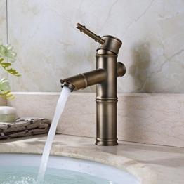 Homelody Retro Wasserhahn Einhandmischer Mischbatterie Badarmatur Wasserkran Waschtisch Waschbecken Messing Armatur Badezimmer Für Bad -