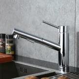 Homelody Verchromt Armatur Spüle Wasserhahn Brause Küchenarmatur ausziehbar Küche Mischbatterie Armaturen Spültisch Spültischarmatur -