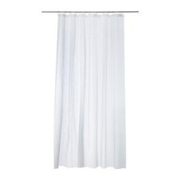 IKEA Duschvorhang INNAREN weiß 180 x 200 cm aus PEVA -