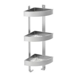 IKEA GRUNDTAL Wandeckregal aus Edelstahl; (26x58cm) -