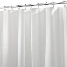 InterDesign 12290EU Schimmelresistentes PEVA-Futter für Duschvorhang, 180 x 200 cm, frost -