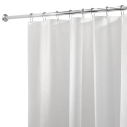 InterDesign 12292EU Schimmelresistentes PEVA-Futter für Duschvorhang, 180 x 200 cm, weiß -