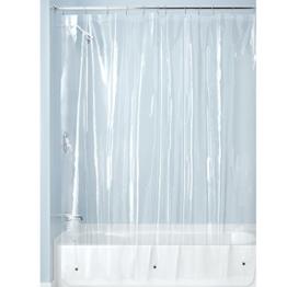 InterDesign 12293EU Schimmelresistentes PEVA-Futter für Duschvorhang, 180 x 200 cm, frost -