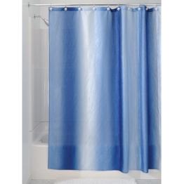 InterDesign Ombre Duschvorhang aus Stoff,  183 x 183 cm, surfblau -