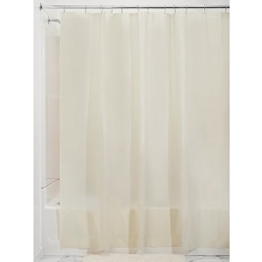 InterDesign PVC-Free PEVA 3-Gauge Shower Curtain Liner, 180 x 180 cm - Sand -