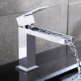 Jiuzhuo Messing Chrom Waschtischmischer Wasserhahn Waschbecken Armatur Einhebelmischer Waschtischarmaturen -